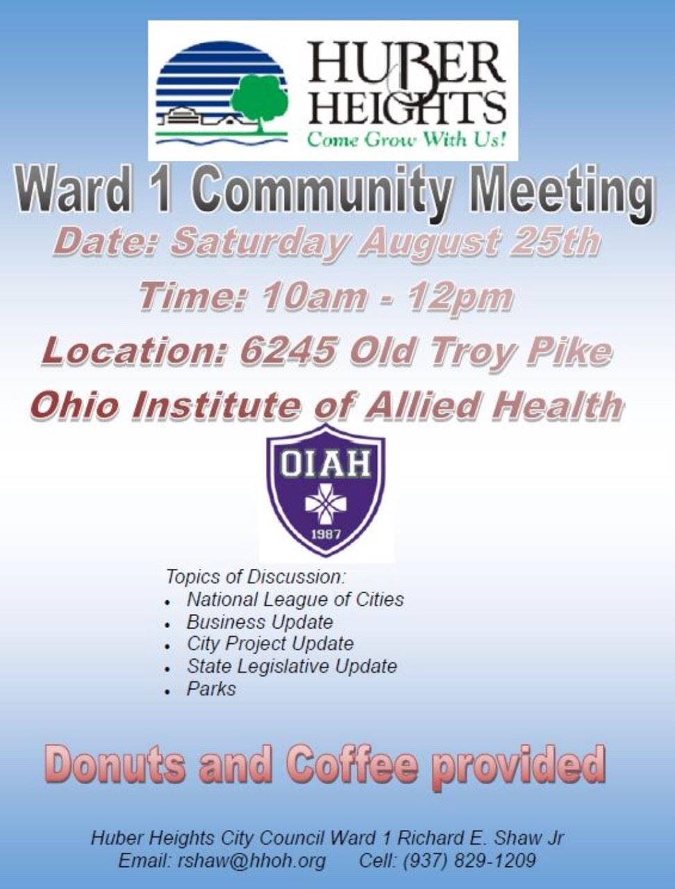 Ward 1 Meeting - R. Shaw - 082518