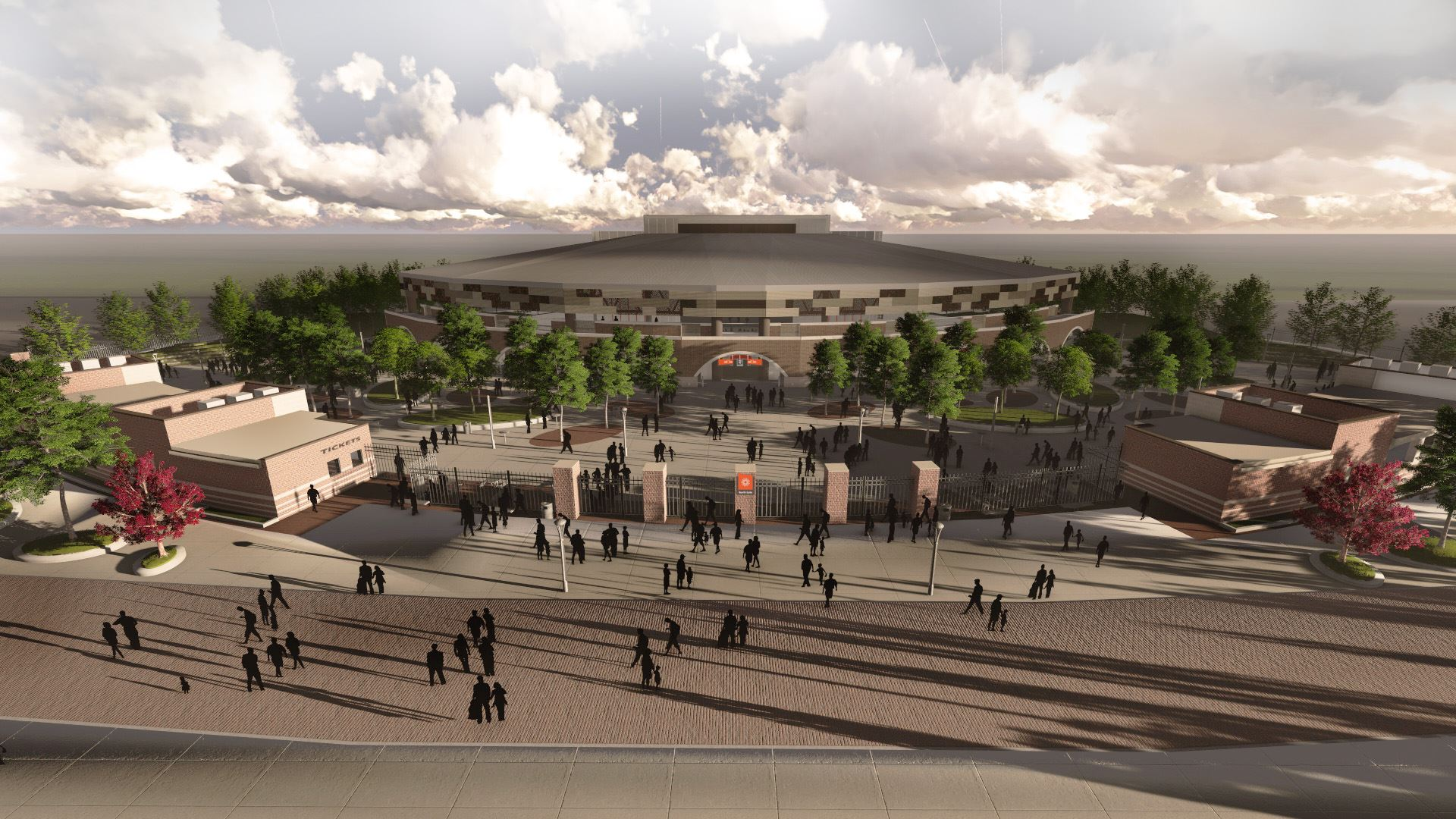 Aerial View of Rose Music Center