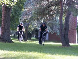 Two Bicycle Patrol Officers