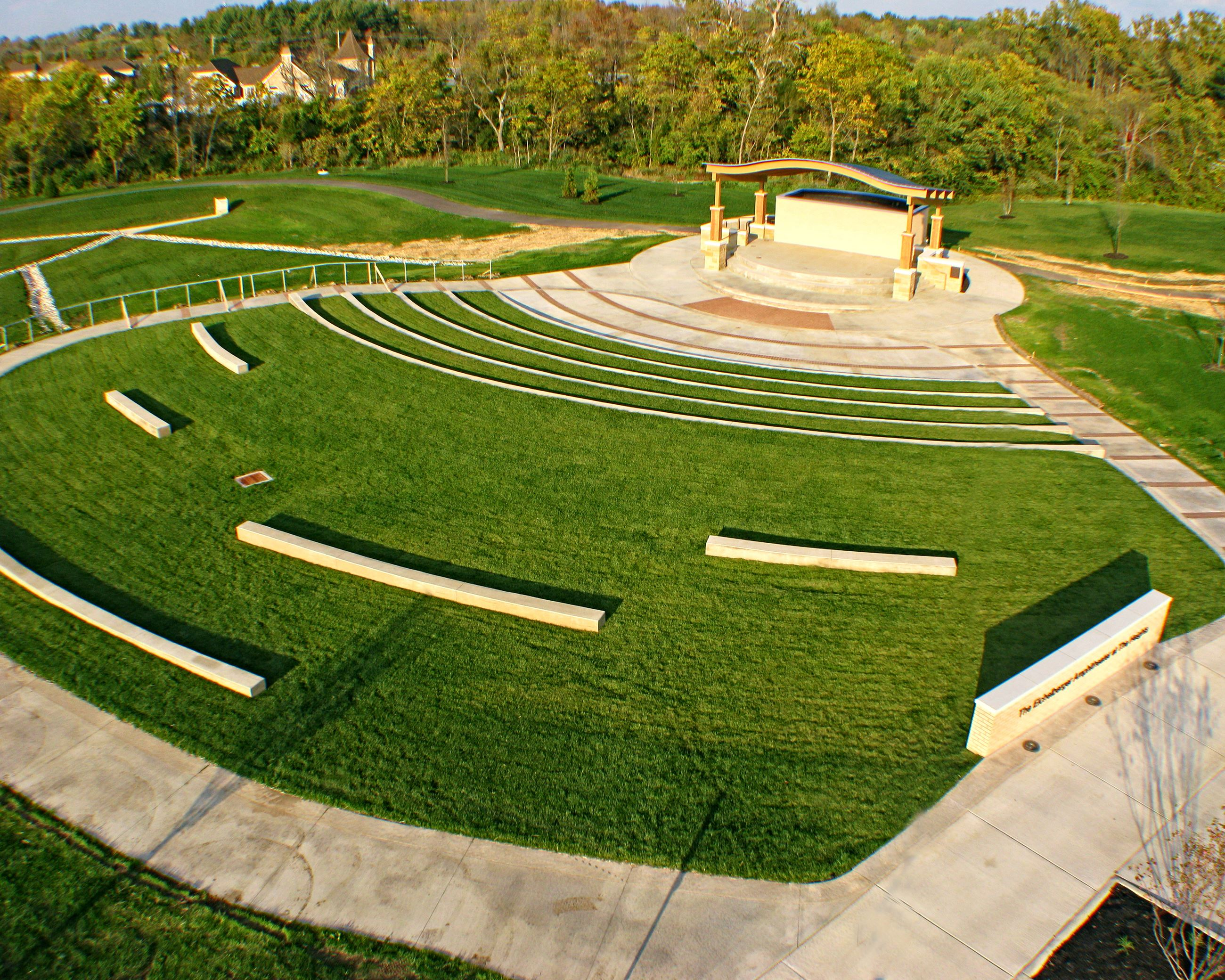 Aerial View of Eichelberger Amphitheater